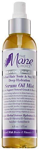 THE MANE CHOICE - Heavenly Halo Herbal Hair Tonic & Soy Milk Deep Hydration Serum Oil Mist (6 oz)