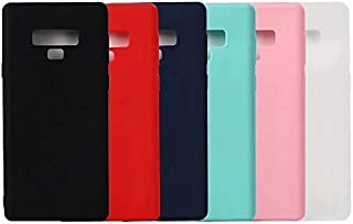QZ Samsung Note 8/Note 9/Note 10/Note 10+/Matte TPU Soft Thin Phone Cover Case (Color : Pink, Size : Note 8)