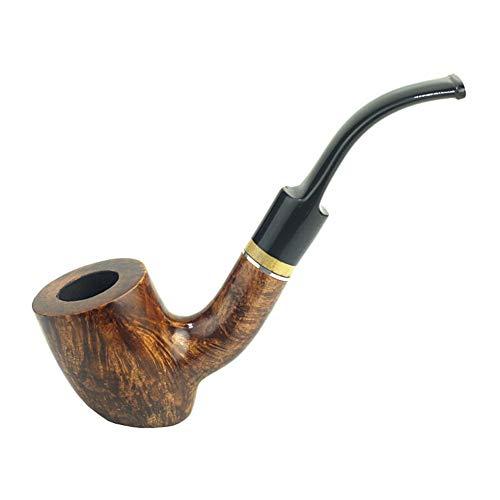 PeiQiH 手作り タバコ喫煙パイプセット, 木製 着脱式 ベンド スタイリッシュです 9 Mm パイプ フィルター 管スクレーパー パイプ ホルダー スターター パイプ キット あなたは既婚者です-b-なめらか 125x30x35mm