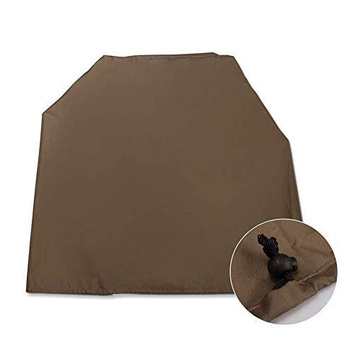 Jsmhh cobertor de Muebles de jardín para Interior de Lona para Aire Acondicionado, a Prueba de Polvo, Protector Solar Impermeable, marrón, 40x46x75cm