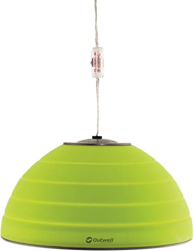 Outwell 650875 iluminación al aire libre Lámpara de techo para exterior Verde 8 W A++ - Iluminación al aire libre (Lámpara de techo para exterior, Verde, Silicona, Campamento, 1 bombilla(s), 8 W)