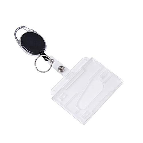 Schlüsselanhänger Set, Vicloon Schlüsselring Retractable Badge Reel mit Belt Clip mit ID Card Holder Abzeichen Buddy Kit für Schlüsselanhänger und ID Card (1 PCS)