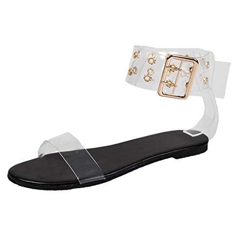 Best Prices! Women Boho Flat Sandals, FAPIZI Transparent Open Toe Wild Rome Shoes Casual Breathable ...