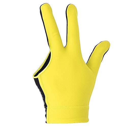 Homeriy Unisex Billardhandschuh Elastisch 3 Finger Show Handschuhe für Linke Hand Handschuhe Snooker Billard Handschuh