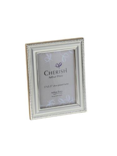 Cherish Arthur Price Bead - Portafoto con cornice placcata in argento, 9x13cm