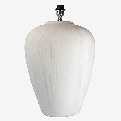 Better & Best 3001201 tafellamp van witte steen in de vorm van een groot beton.