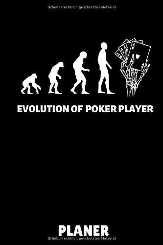 EVOLUTION OF POKER PLAYER PLANER: A5 MONATSPLANER Poker Buch | Kartenspiele | Kartenspiel | Geschenkbuch für ein Poker Set | Poker lernen | Anfänger | Geschenk für Erwachsene