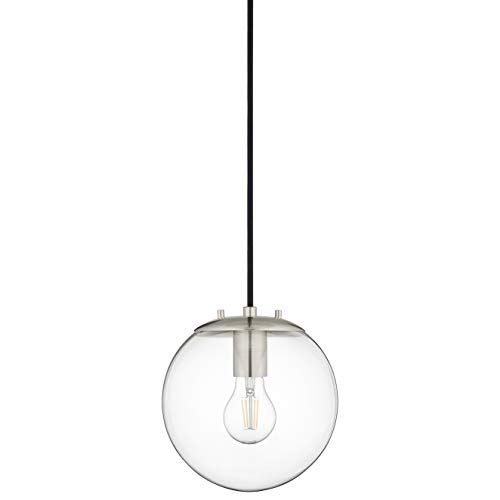 Sferra Globe Pendant Light | Brushed Nickel Pendant Lighting...