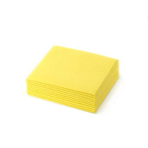 Eden® – VORTEILSPACK ALLZWECKTÜCHER in gelb 10 Stück – Weiches, saugstarkes und nassreißfestes Reinigungstuch, Geeignet für den kompletten Haushalt