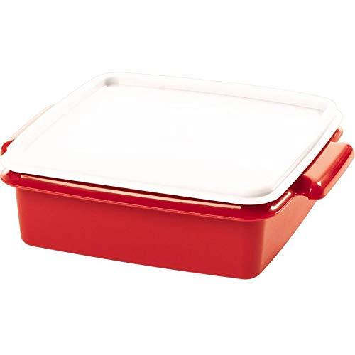Tupper pote vermelho 780ml. dimensões 19,2 comprimento x 16,4 largura x 6 altura (cm). categoria servir. tampa branca.