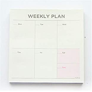 ofvsdhftgj Weekly Monthly Check List Work Plan Square Paper Notebook Diary Agenda Daybook Weekly Plan:Anders-als-andere