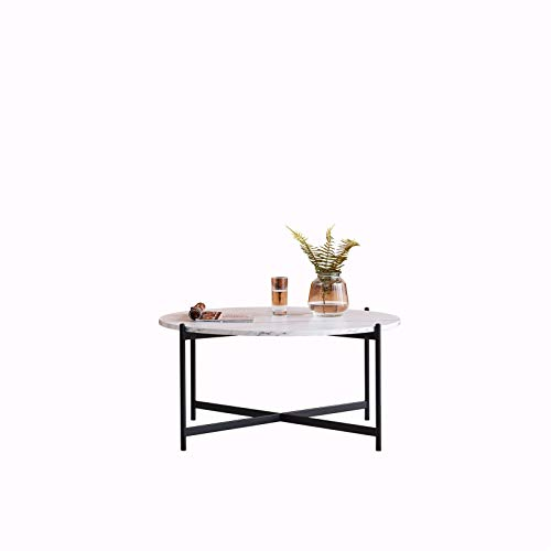 BEST&FAST Modern Nesting Wooden Top and Metal Coffee Table Black (MGGT-Table)