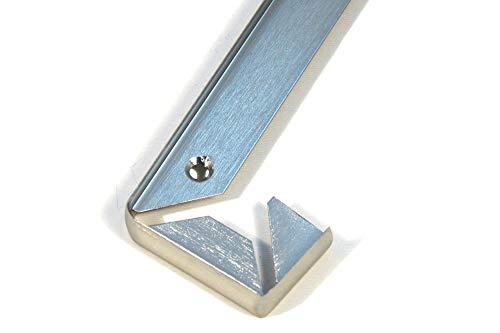 ABSCHLUSSLEISTE Winkelleisten Arbeitsplatte Leiste Verbindungleiste Nickel 40mm Brandneu