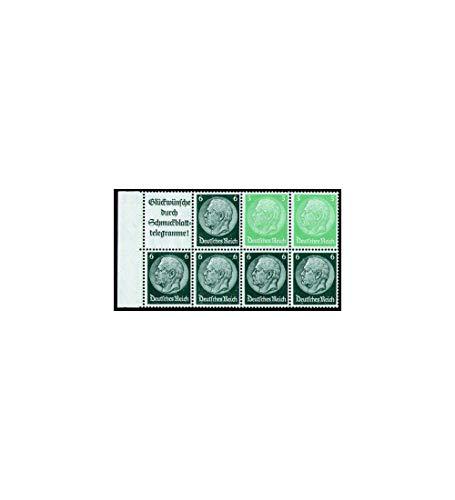 Goldhahn Deutsches Reich Markenheftchenblatt Nr. 95 postfrisch ** Hindenburg A14+5+6 Pfennig Briefmarken für Sammler