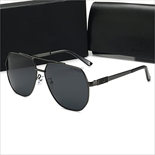 YUN Gafas De Sol para Hombres Gafas De Sol Polarizadas, UV400 Protección Conductor Actividades Al Aire Libre Conducción Pesca Correr Senderismo Deportes (Color : Black)