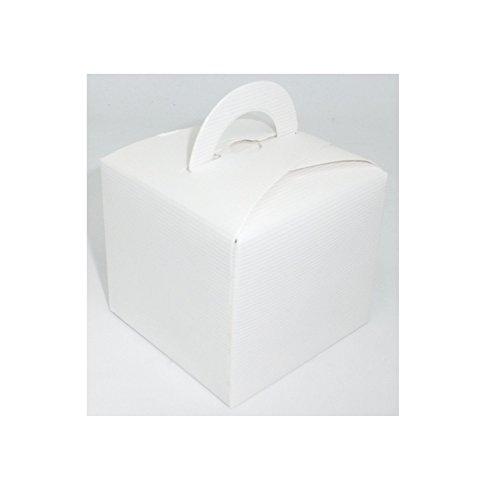 Lot 20 boites à dragées Dragée Mariage Baptême - Blanc - 03