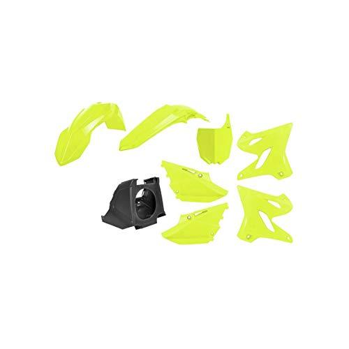Kit complet pour moto Polisport Noir/jaune fluo