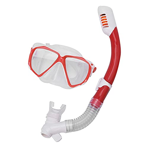 OhhGo Juego de esnórquel en seco, anti-niebla buceo, para niños Snorkel Gel de sílice a prueba de explosiones, gafas de buceo antivaho (amarillo)