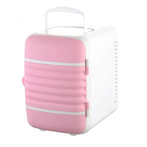 GFF Mini-Kühlschrank, Kühlbox für LKW-Fahrer, tragbare Gefriertruhe mit 12 V Gleichstrom, Camping, Reise, Picknick, OneSize-Pink
