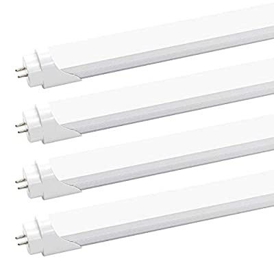 T8 T10 T12 2FT LED Light Tube - 8W LED Replacement for 24 inch Fluorescent Bulb, 20W Equivalent, 1120Lm, 5000K Daylight White, Ballast Bypass, Dual-End Powered, Frosted Cover (Pack of 4)