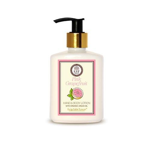 Huile d'Argan Naturelle, Pamplemousse rose/Végétalien, main & lotion pour le corps 250 ml Bouteille Pet