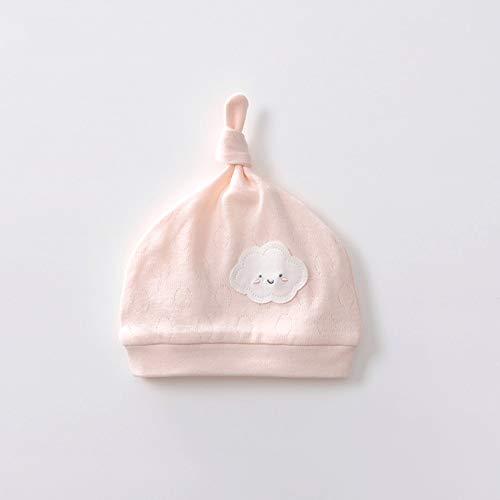 LI MING SHOP L-H Baby-Kappe, Cotton Soft Winddichtes Cap, Männer/Frauen-Baby-Frühlings-und Herbst-Warmer Hut, Geeignet for Kleinkinder Ab 0-6 Monate (Color : Pink, Size : 41cm)
