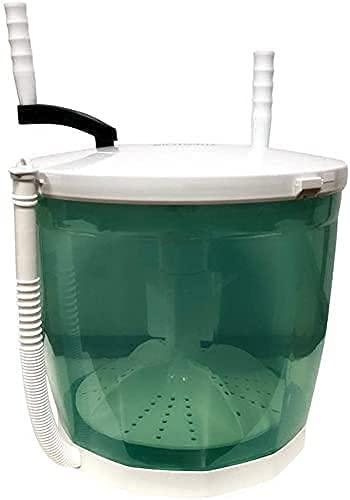 HYLK Lavadora manual miniportátil, funciona a mano, no eléctrica, manual, compacta, secadora de centrifugado, apto para dormitorio, individual, ejercicio, 2 (color: 1) (color: 1)