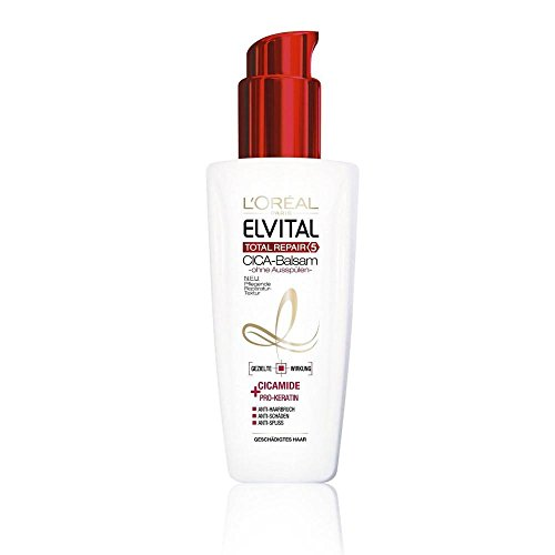 L'Oréal Paris Elvital Total Repair 5 CICA-Balsam - Ohne Ausspülen, 6er Pack (6 x 0.1 l)