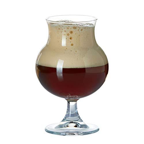 Copas de cristal de champán, juego de 2 elegantes copas de vino sopladas a mano, regalo para agua de soda, zumos de frutas - 16 onzas / 500 ml