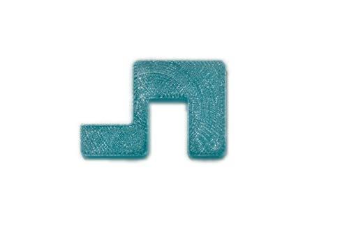 Garnelen Tom U-Line Abdeckscheibe Halter für Wandstärke 6 mm, Deckelstärke 4 mm, blau transparent, 4 STK.
