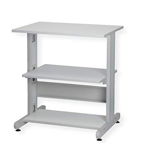 ROLINE Druckertisch | Metall | lichtgrau/weiß | 68 x 50 x 73.8 cm