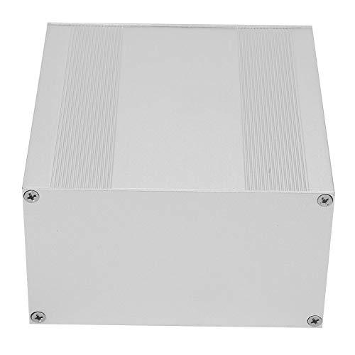Caja de instrumentos de placa de circuito, caja de aluminio Caja de aluminio de bricolaje plateado esmerilado, diseño de tipo dividido de 3,2 * 5,7 * 5,9 pulgadas para productos