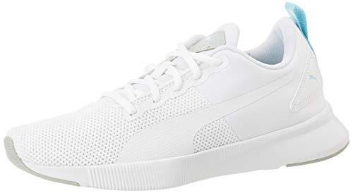 PUMA Unisex Flyer Runner Jr Sneaker, White-High Rise-Gulf Stream Black, 39 EU