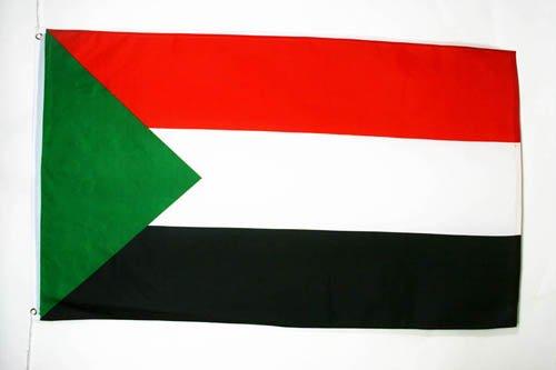 AZ FLAG Sudan Flag 3' x 5' - Sudanese Flags 90 x 150 cm - Banner 3x5 ft