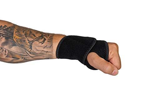 Handgelenkstütze   Orthese handgelenk   Elastische und verstellbare Handgelenkbandage   Mit Klettverschluss   linke und rechte Hand   Sport   Fitness   unisex   Schwarz   Universelle Größe