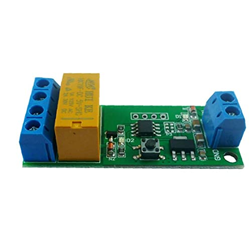 Cambie el tablero del módulo del relé temporizado ajustable del motor del relé de retardo DC 5V 6V 9V 12V inteligente controlador, Componentes