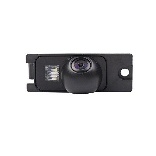 Rückfahrkamera wasserdicht Nachtsicht Auto Rückansicht Kamera Einparkhilfe Rückfahrsystem, Kennzeichenleuchte (Schwarz) für Volvo S80/ SI40/XC60 /XC90/ S40 /C70 /S80L /S40L /S80 T4 T5