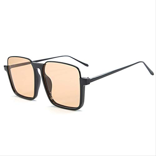 ODNJEMSD 2021 Nuovi Occhiali di Tendenza retrò Large-Frame Occhiali Anti-Blu-Ray