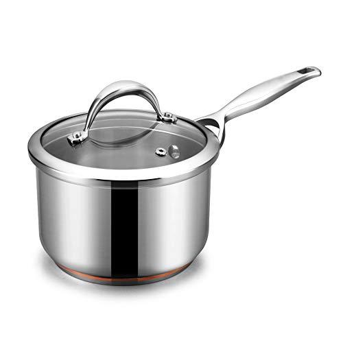 DYXYH Acero Inoxidable Leche Pan no es fácil de Suplemento Cacerola Antiadherente Comida for bebés Leche Caliente Pan Mini Inicio