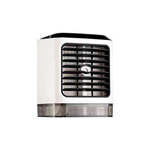 Tragbare Mini-Klimaanlage , Mit 2 violetten Lampen , Luftkühler Luftbefeuchter mit Fernbedienung UV-Desinfektion USB-Desktop-Luftzirkulator Nebelreiniger für Wohnheim Schlafzimmer Zimmer Auto Büro