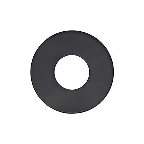 LANZZZAS Pellet rookpijp pelletkachel pellet schoorsteen rozet rand 70 mm kleur zwart Ø 100 mm