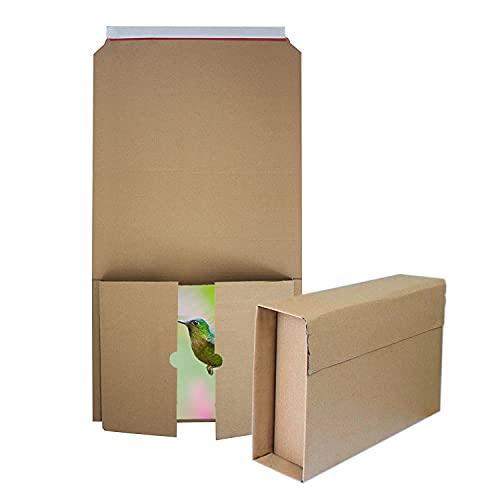 30 Cajas para libros Cajas de cartón de altura variable para envíos Cartón ondulado Marrón 210 x 150 mm hasta 60 mm altura (cl-2115 210x150mm)
