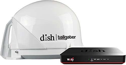 KING DT4450 DISH Tailgater Bundle - Portable/Roof Mountable Satellite TV Antenna and DISH Wally HD Receiver