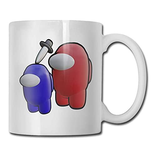 KINGAM Taza de cerámica de Am-on-g U-s de la historieta para la taza de los hombres de la oficina