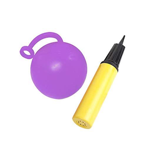 Eillybird Outdoor waterbal gevuld met waterballon geklopte bal kleine luchtbellenbal TPR opblaasbaar speelgoed scheurvast supergeschenk met pomp