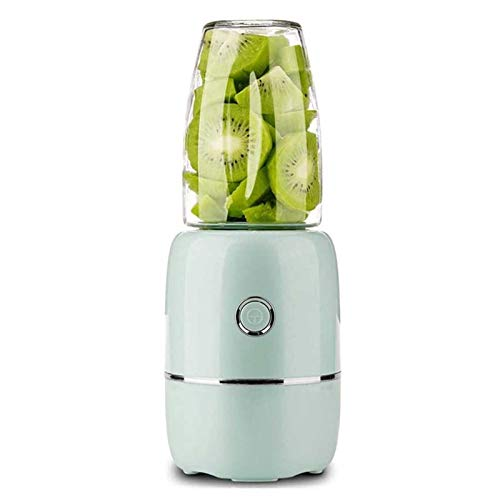 Adesign Portable Blender, Personal Size Electric Juicer Cup,Fruit Mixer Machine for Home&Travel, Rechargeable Juicer Bottle for Juice, Smoothie and Milkshake (Color : Green)