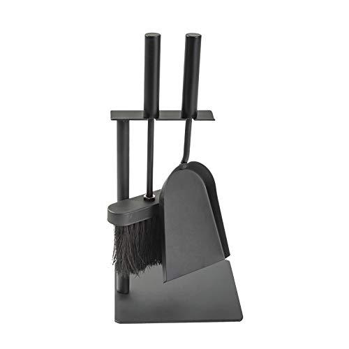 Aboniris Hearth Tidy Set, All Black, Wood Stove Tool Set, Fireplace Companion Set