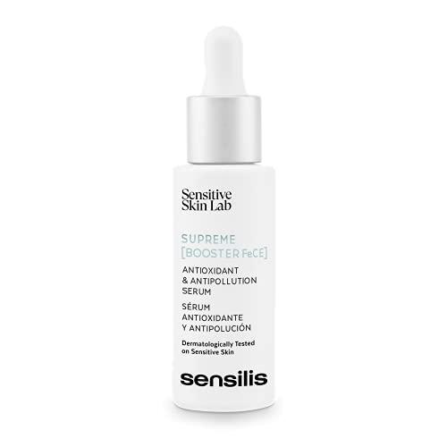 Sensilis Supreme Booster Fece - Sérum Antioxidante Y Antipolución Con Ácido Hialurónico Y Vitamina C, Para Pieles Secas Y Normales - 30 Ml