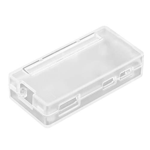 Richer-R Premium Raspberry Pi Zero Case, Ultradünne ABS Kunststoffgehäuse Schutzhülle Case,Leicht Kasten Cover Case Gehäuse für Raspberry Pi Zero W / 1.3 Schwarz Transparent(Clear)