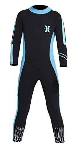 Mantener calor y Anti-UV - Este traje de neopreno está hecho de tela de buceo neopreno SCR, suave y elástica, puede prevenir la pérdida de temperatura corporal, sus niños jugarán en el agua durante mucho tiempo que no sentirán frío y les proporcionar...